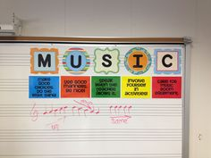 oh yeah!  5 classroom rules using the word music to help remember them.  Love it