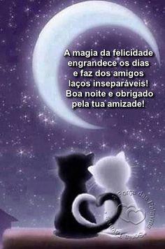A magia da felicidade engrandece os dias e faz dos amigos laços inseparáveis! Boa noite e obrigado pela sua amizade