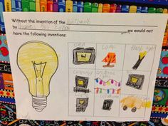 Bishop's Blackboard: A First Grade Blog 1st Grade Science, Kindergarten Science, Teaching Science, Thomas Edison Light Bulb, Edison Inventions, Science Activities For Kids, Science Lessons, Science Notebooks, Elementary Education