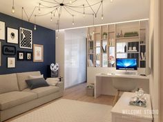 33 Amazing Studio Apartment Layout Ideas - Studio apartments are recent phenomenon and are intended for singles, professionals and students who cannot afford expensive big apartments. Condo Interior Design, Small Apartment Interior, Small Apartment Design, Condo Design, House Design, Studio Design, Apartment Ideas, Studio Apartment Layout, Small Studio Apartments