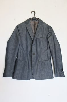 anthony jacket in raw denim