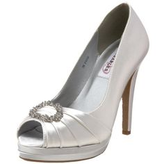 Dyeables Women's Gianna Platform Pump, White, 8 M US - Brought to you by Avarsha.com