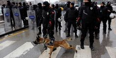 Turkish police fire tear gas at protest against stronger presidency