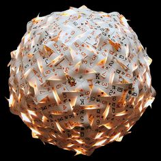 Geodesic Spheres Made from Recycled Materials by Nick Sayers spheres recycling lighting cards