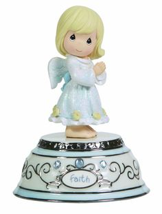Amazon.com - Precious Moments Faith Angel Musical Figurine - Collectible Figurines