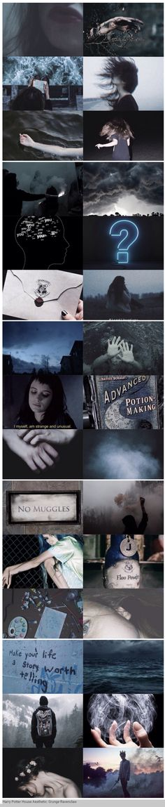 foundinghouses: Harry Potter House Aesthetic: Grunge Ravenclaw