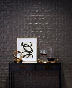 2020 Tile Trend: Sculptural - The Tile Shop Blog Black Accent Walls, Schedule Design, Large Format Tile, The Tile Shop, Shower Pan, Statement Wall, Ceramic Wall Tiles, Stone Countertops, Stone Mosaic