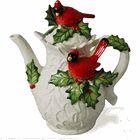 Snow Garden Cardinal Teapot by Kaldun & Bogle