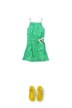Lattice Tank Dress and Jelly Sandal