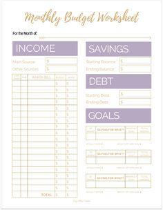 Weekly Budget Printable, Weekly Budget Planner, Planning Budget, Budget Binder, Sample Budget, Printable Budget Worksheet, Calendar Printable, Simple Budget Template, Budget Planner Template