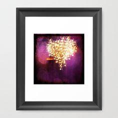 violet heart Framed Art Print