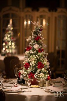 Christmas tree winter wedding centerpiece. floral winter wedding centerpieces ideas