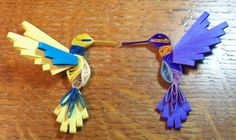 Quilled hummers 1 - Quilled Creations Quilling Gallery
