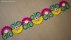 Easy Rangoli Designs Videos, Rangoli Designs Simple Diwali, Simple Rangoli Border Designs, Rangoli Designs Latest, Rangoli Designs Flower, Free Hand Rangoli Design, Small Rangoli Design, Rangoli Kolam Designs, Rangoli Designs With Dots