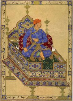 Mughal painting - Antique Persian Painting