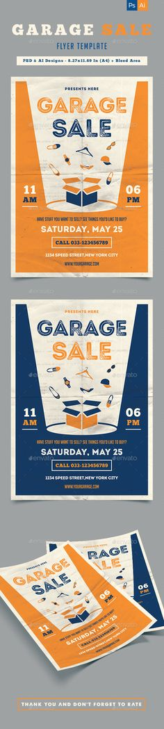 Garage Sale Flyer  Colors The OJays And It Is