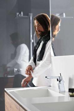 Super modern faucet HansaLoft with a handle on the side