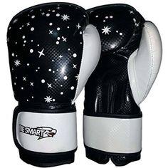BeSmart KIDS Boxing Gloves Junior Mitts 4oz, 6oz Punch Bag Children MMA Youth P (Black/White, 6 Oz)