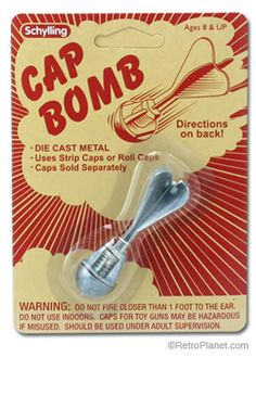 Cap Bomb, loved them but they only exploded one cap at a time!! It didn't take much to entertain us back then!