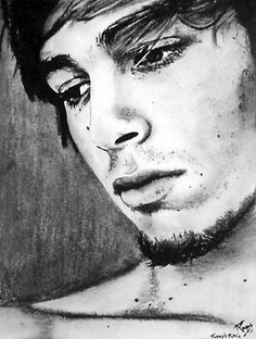 """""""Who me?"""" ~ charcoal on paper ~ 30""""x24"""" ~ 2008 ~ www.rupeshpatric.com"""