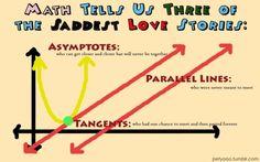 Saddest Love Stories as told by math. Bahah.