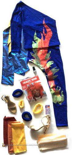 DIY David Bowie Flame Costume...