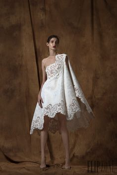 Discover thousands of images about styleisviral: Saiid Kobeisy Couture Spring 2016 Couture Dresses, Bridal Dresses, Fashion Dresses, Prom Dresses, Formal Dresses, Elegant Dresses, Beautiful Dresses, Nice Dresses, Short Dresses