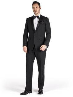Look smart and stylish in the classic Pierre Cardin range. All dinner suits are made in a regular fit for comfort, and feature a 1 button jacket with notch lapel. We also offer a range of ties and shirts to complement your new suit.<br><br>Alternative jacket option: Pierre Cardin Black Shawl Collar Dinner Jacket.