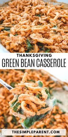Best Green Bean Casserole Recipe. Side dishes are pretty important during the holidays and Slow Cooker Green Bean Casserole is a great way to put together a very traditional one! Use the Crock Pot to make it easier to prep your Thanksgiving meal! This easy side dish is so yummy and is a classic Thanksgiving recipe, made even simpler by using the crockpot. Thanksgiving Green Bean Casserole, Best Green Bean Casserole, Thanksgiving Meal, Side Dishes Easy, Side Dish Recipes, Easy Dinner Recipes, Easy Meals, Holiday Recipes, Easy Recipes