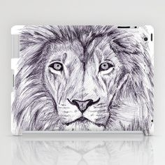Lion iPad Case by DeMoose - $60.00 #animal #lion #drawing #art #cat #wild #life