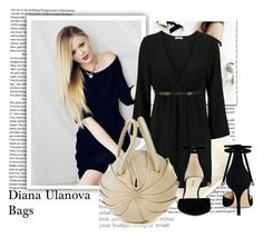 """Diana Ulanova Bags 9"" by ramiza-rotic ❤ liked on Polyvore featuring Model Co, Halston Heritage and Nine West"