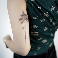 : Pine tree, again . #tattoo #tattoos #tattooing #art #tattooistdoy #inkedwall #design #drawing #타투 #타투이스트도이 #SwashRotary #dynamic #intenz #silverback #BellLiner #BellNeedle #TattooSupplyBell
