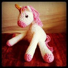 Unicorn Doll by hook'd crochet