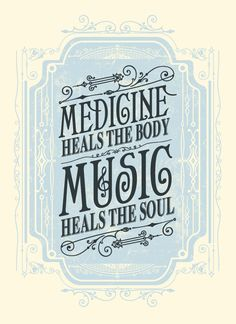 Image of Music Heals the Soul Art Print