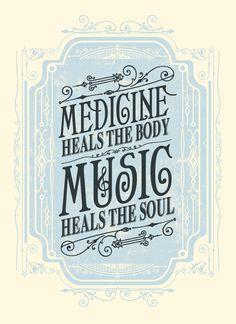 Image of Music Heals the Soul Art Print