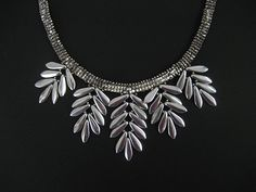 Bead&Button Show: Bead&Button Show Workshops & Classes: Wednesday June 3, 2015: B151152 Silver Fern Necklace