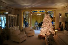 Home of the Hodgi: Inside Graceland, and the Elvis-mobiles Graceland House, Elvis Presley House, Elvis Presley Graceland, Elvis Presley's Birthday, Elvis Presley Christmas, Christmas Living Rooms, Memphis Tennessee, Home Pictures, Southern Belle