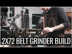 How to: Build a 2x72 Belt Grinder - A Complete Walk Through - YouTube 2x72 Belt Grinder Plans, Cad File, Home Workshop, Milling Machine, Knife Making, Decoration, Knives, Revolution, How To Plan