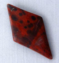 Red Poppy Jasper Cabochon  Hand Cut Freeform by bluerivergems, $20.00