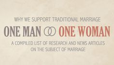 Marriage Between Man and Woman Only   ... Voice for Families - Advocating Marriage Between One Man and One Woman