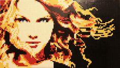 Taylor Swift mosaic | WIN A LEGO FERRARI: http://pinterest.com/pin/19984792069482040/