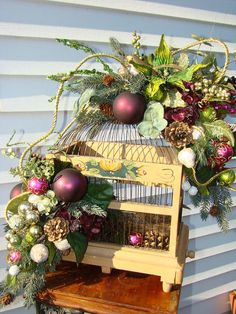 Holiday Christmas Lavish Shabby Chic by CottageGardenFlorals, $180.00