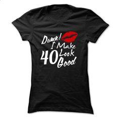 40th birthday gift 40 Damn I make 40 look good t shirt red lips - #sweatshirts for men #hoodies womens. MORE INFO => https://www.sunfrog.com/LifeStyle/40th-birthday-gift-40-Damn-I-make-40-look-good-t-shirt-red-lips-Black-10169402-Ladies.html?60505