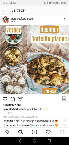 Tortellini, Spinach, Cooking