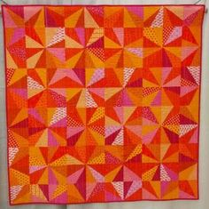 Starburst by Nicole Neblett, spotted at QuiltCon Photo by Mad About Patchwork Star Quilts, Scrappy Quilts, Quilt Blocks, Star Blocks, Bright Quilts, Purple Quilts, Quilting Projects, Quilting Designs, Quilting Ideas