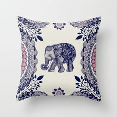 Buy Elephant Pink Throw Pillow by rskinner1122. Worldwide shipping available at Society6.com. Just one of millions of high quality products available.