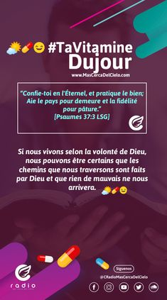 #TaVitamineDuJour #TuVitaminaDelDía Christians, Cover Pages, Psalm 37, Vitamins, Peace, D Day