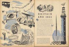 """Britain and 1951"" illustration by Barbara Jones, 1951"