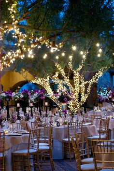 Find wedding reception, fashion, hair and beauty inspiration from real wedding photos, plus browse by color and get wedding planning info from the experts at BridalGuide Forest Wedding Reception, Wedding Reception Lighting, Our Wedding, Dream Wedding, Reception Ideas, Wedding Table, Wedding Ceremony, Trendy Wedding, Wedding Dinner