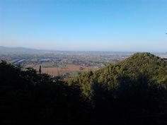 il monte Spuntone, l'Arno e i laghi di Campo, San Giuliano Terme, Pisa